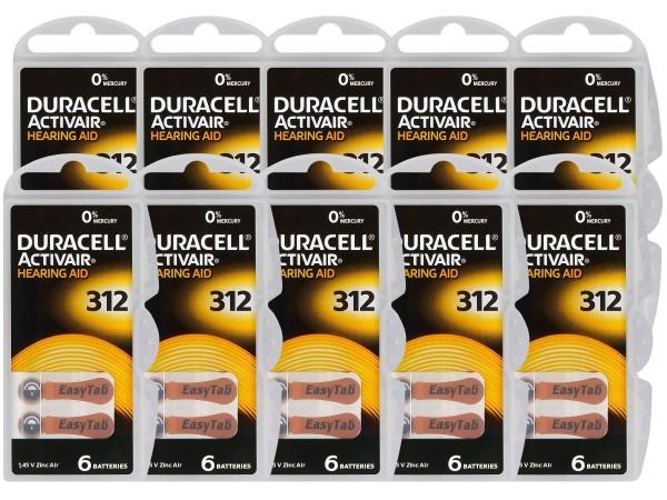 Typ 312 Hörgerätebatterien DURACELL ACTIVAIR PR41 60er Pack
