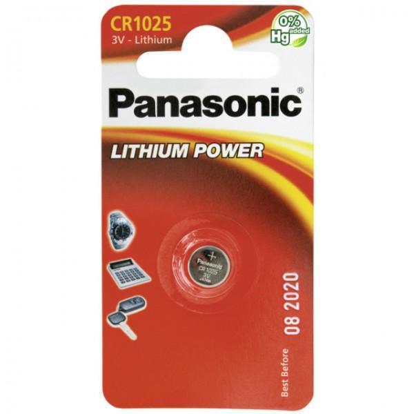 CR1025 PANASONIC Knopfzelle Lithium