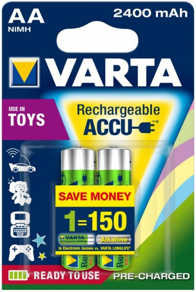 AA Akkus VARTA 2400 mAh 56756 Accu Power 2er Pack