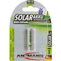 AAA Akkus ANSMANN  550 mAh LR03 Micro SOLAR 2er Pack