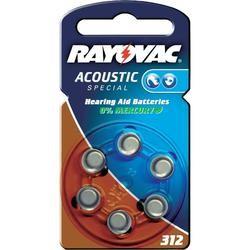 Typ 312 Hörgerätebatterien VARTA RAYOVAC Acoustic Special HA312 PR41 6er Pack