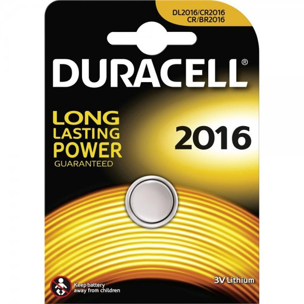 CR2016 DURACELL Knopfzelle Lithium 1er Pack