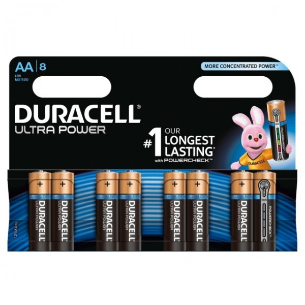 AA Batterien DURACELL LR06 Mignon MX1500 Ultra Power 8er Pack