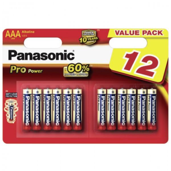AAA Batterien PANASONIC LR03 Micro Pro Power 12er Pack