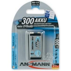 9V Akku ANSMANN 300 mAh E-Block maxE 1er Pack