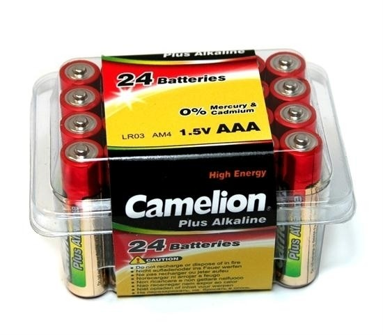AAA Batterien CAMELION LR03 Micro Alkaline Plus BIG BOX 24er Pack