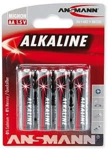 AA Batterien ANSMANN LR06 Mignon RED Alkaline 4er Pack