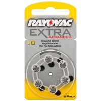 Rayovac  R10AE EXTRA ADVANCED Hörgerät Batterien 6er Pack