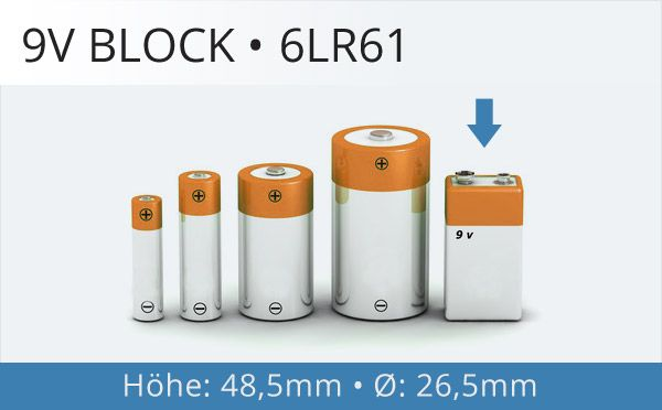 9V-Block Batterien