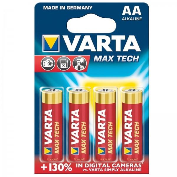 AA Batterien VARTA LR06 Mignon Max Tech 4706 4er Pack