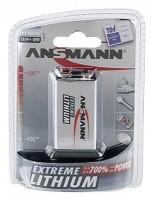 9V Batterie ANSMANN 6LR61 9V-Block Extreme Lithium 1er Pack