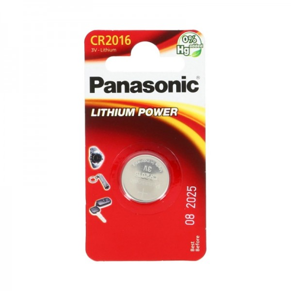 CR2016 PANASONIC Knopfzelle Lithium 1er Pack