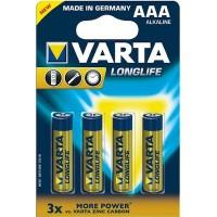 AAA Batterien VARTA LR03 Micro Longlife Extra 4103 4er Pack