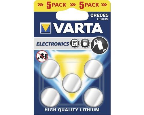 CR2025 VARTA Knopfzelle Lithium 5er Pack