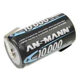 Monozellen Akku ANSMANN 10000 mAh LR20 Mono-D Z-Lötfahne 1er Pack