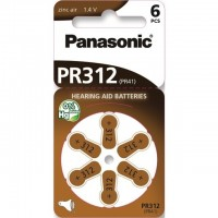 Typ 312 Hörgerätebatterien PANASONIC PR312 PR41 6er Pack