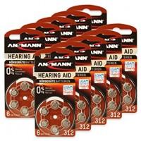 Typ 312 Hörgerätebatterien ANSMANN PR41 60er Pack
