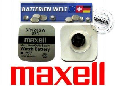 SR920SW Maxell Uhrenbatterie