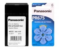 Typ 675 Hörgerätebatterien PANASONIC PR675 PR44 60er Pack