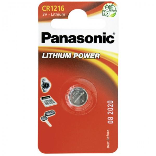 CR1216 PANASONIC Knopfzelle Lithium