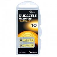 Typ 10 Hörgerätebatterien DURACELL ACTIVAIR PR70 6er Pack