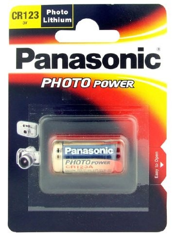 CR123a PANASONIC Lithium Power 1er Pack