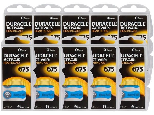 Typ 675 Hörgerätebatterien DURACELL ACTIVAIR PR44 60er Pack