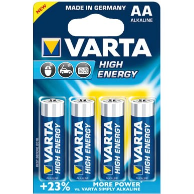 AA Batterien VARTA LR06 Mignon High Energy 4906 4er Pack