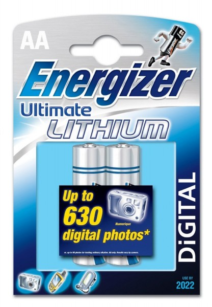 AA Batterien ENERGIZER LR06 Mignon Ultimate Lithium L91 2er Pack