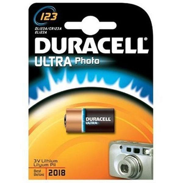 CR123a DURACELL Ultra Photo 123 1er Pack