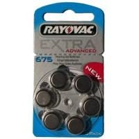 Typ 675 Hörgerätebatterien RAYOVAC Extra Advanced R675AE PR44 6er Pack