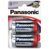 Monozellen PANASONIC LR20 Mono-D Everyday Power 2er Pack