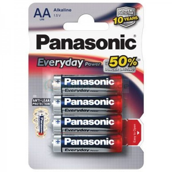 AA Batterien PANASONIC LR06 Mignon Everyday 4er Pack