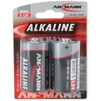 Monozellen ANSMANN LR20 Mono-D RED Alkaline 2er Pack