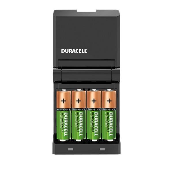 Duracell CEF27 45-Minuten-Ladegerät inkl. 2 x AAA / 2 x AA