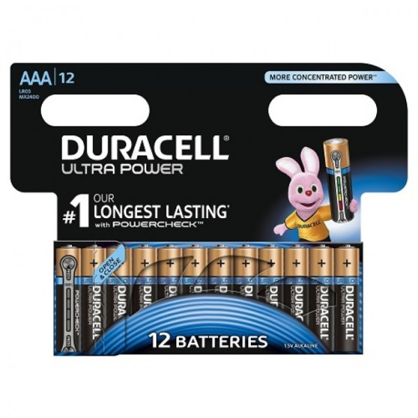 AAA Batterien DURACELL LR03 Micro MX2400 Ultra Power 12er Pack