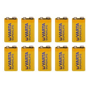 9V Batterien VARTA 6LR61 9V-Block Superlife E-Block 10er Pack