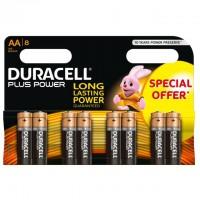AA Batterien DURACELL LR06 Mignon MN1500 Plus Power 8er Pack