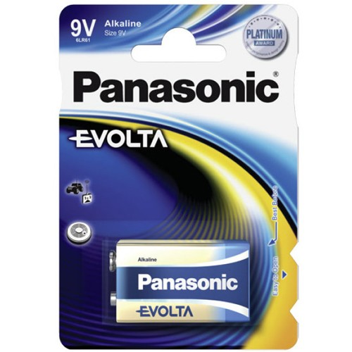 9V Batterie PANASONIC 6LR61 9V-Block Evolta 1er Pack