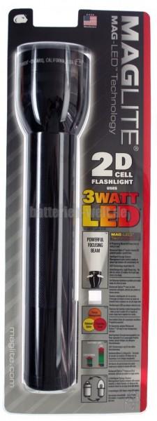 ML-2D LED schwarz Blister
