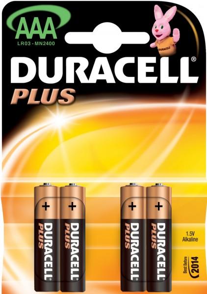 AAA Batterien DURACELL LR03 Micro MN2400 Plus Power 4er Pack