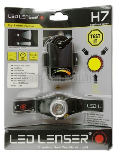 Led Lenser H7 im Blister