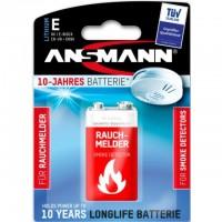9V Batterie ANSMANN 6LR61 9V-Block Extreme Lithium für Rauchmelder