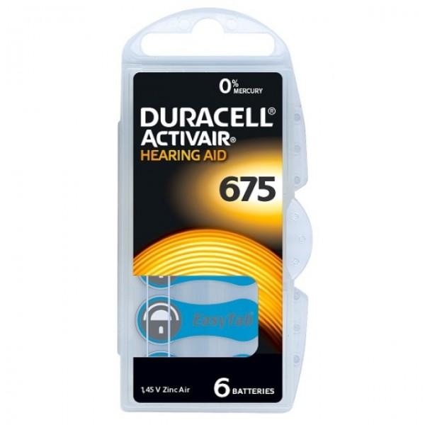 Typ 675 Hörgerätebatterien DURACELL ACTIVAIR PR44 6er Pack