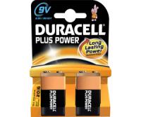 9V Batterien DURACELL 6LR61 9V-Block MN1604 Plus Power 2er Pack