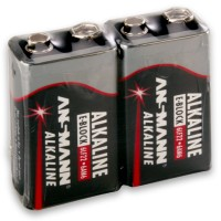 9V Batterien ANSMANN 6LR61 9V-Block RED Alkaline 2er Folie