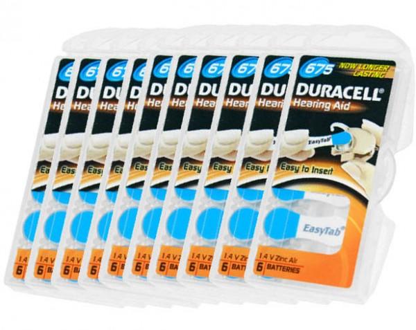 Typ 675 Hörgerätebatterien DURACELL EasyTab PR44 60er Pack