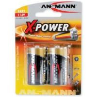 Babyzellen ANSMANN LR14 Baby-C X-Power Alkaline 2er Pack