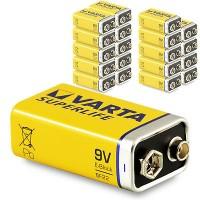 9V Batterien VARTA 6LR61 9V-Block Superlife E-Block 20er Pack