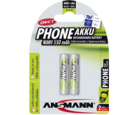 AAA Akkus ANSMANN 550 mAh LR03 Micro Standard 2er Pack